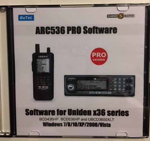 Software ARC536 PRO pro Uniden UBCD3600XLT