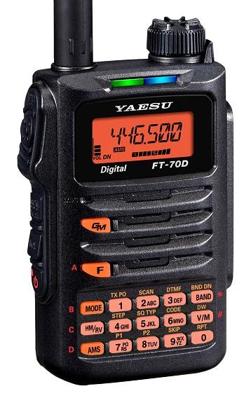 YAESU FT-70DE , dual-band 144/430MHz, C4FM/analog