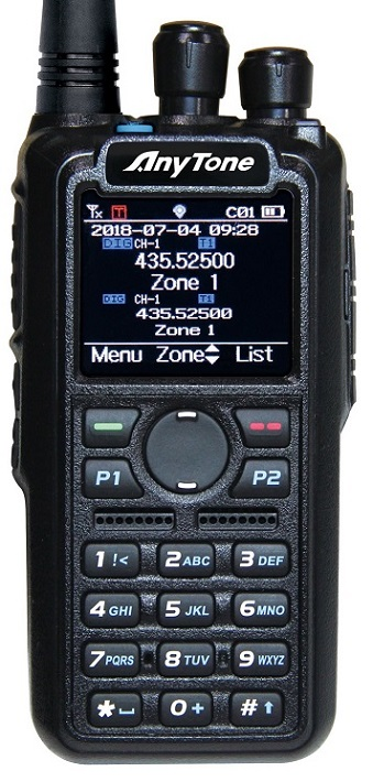 ANYTONE D878UV, dual-band DMR, GPS, USB kabel + 3100mAh baterie