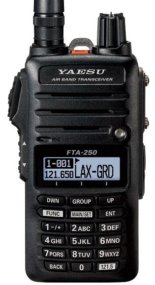 YAESU FTA-250L , kompaktní ruční AIRBAND radiostanice