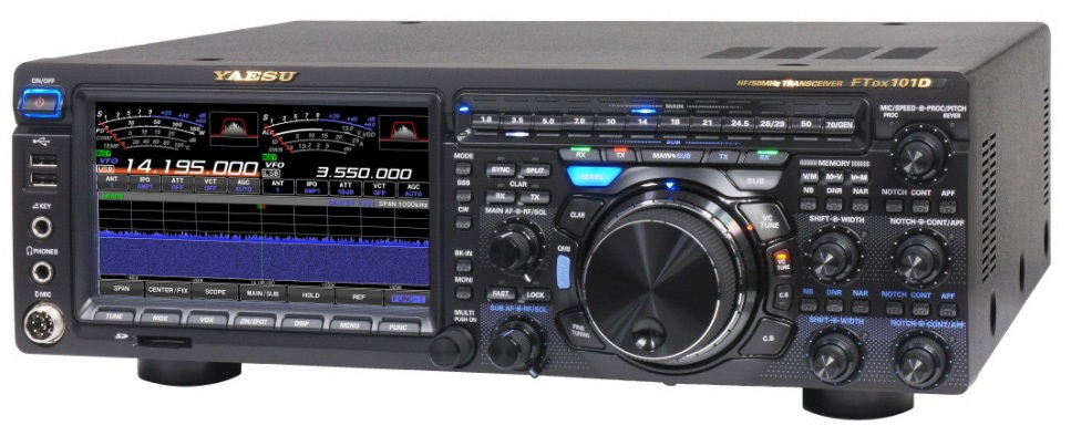 YAESU FT-DX101D , HF/50MHz/70MHz, 100W