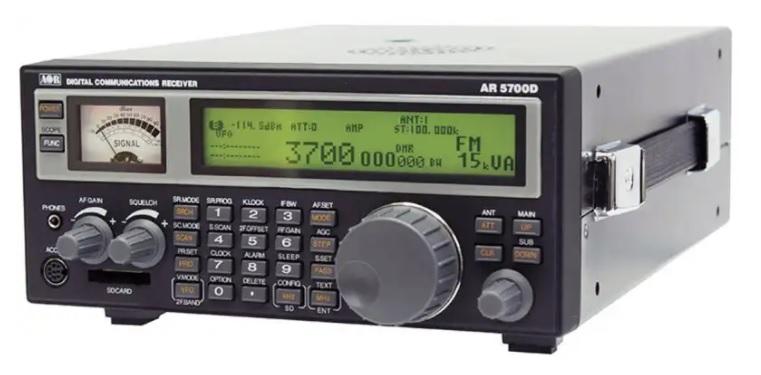 AOR AR5700D , širokopásmový digitální přijímač 9kHz-3700MHz